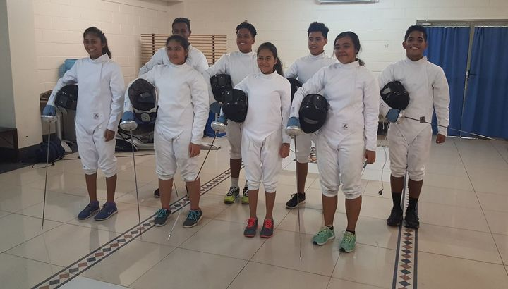 Samoa's first ever fencing squad ready for their international debut at the Oceania Under 20 Championships.