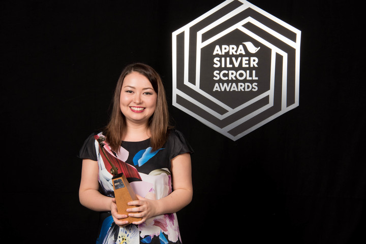 Salina Fisher, winner of the SOUNZ Contemporary Award at the 2016 APRA Silver Scrolls