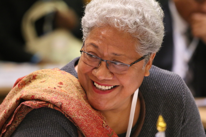 The Deputy Prime Minister of Samoa Fiame Naomi Mata'afa at a workshop in New Zealand for Pacific Parliaments.