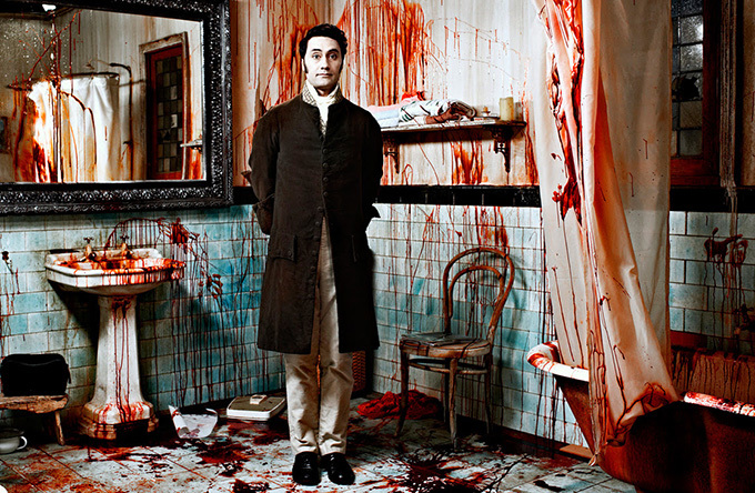 Taika Waititi on the set of What We Do In The Shadows.