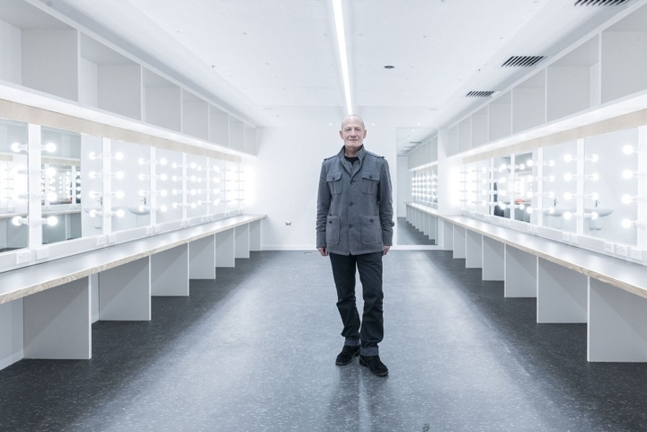 Simon Prast stands in the dressing rooms of the new ASB Waterfront Theatre.