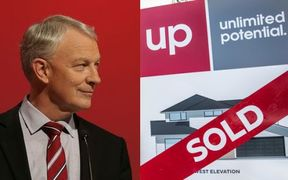 Phil Goff is backing a stamp tax to slow housing prices.