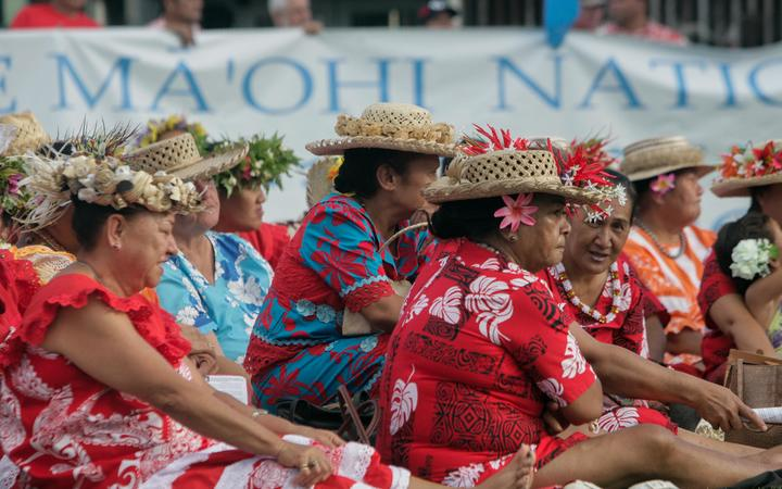 Women in Tahiti commemorate 50th anniversary of first French nuclear weapons test in South Pacific