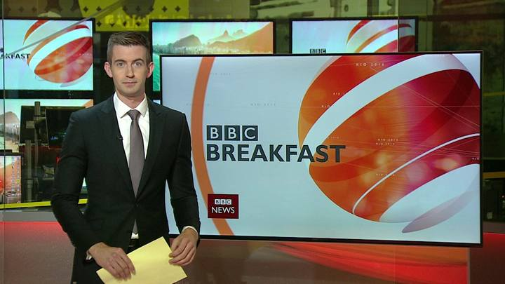 The new face of BBC business news Ben Thompson.