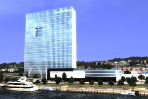 An artist's impression of the proposed waterfront hotel.