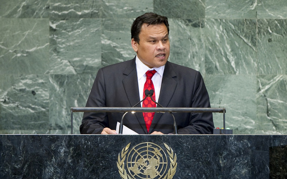 Sprent Arumogo Dabwido, President of the Republic of Nauru, addresses the general debate of the sixty-seventh session of the General Assembly on 2012.