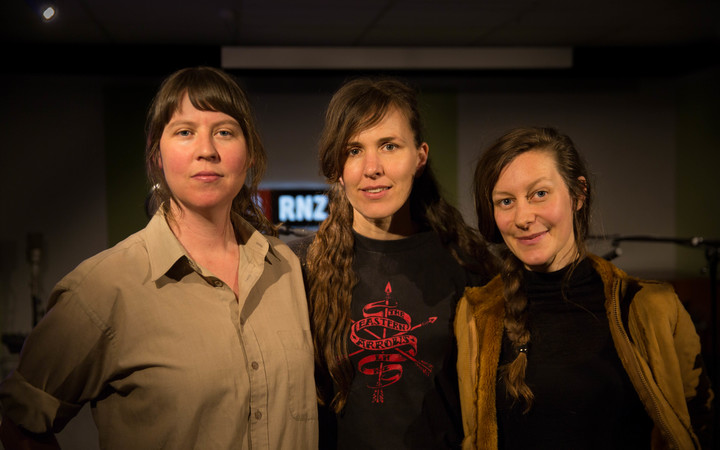 Jess Shanks (left), Reb Fountain (center) and Alice Ryan Williams (right) make up the band Ravens.