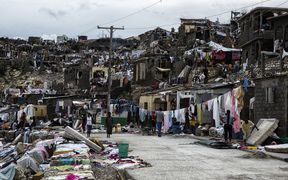 The devastation in Jeremie on Thursday, where about 80 percent of homes in the city in Haiti were thought to have been destroyed by the storm.