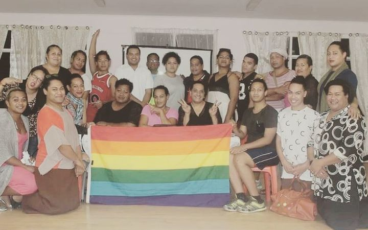 Members of Tonga's LGBTI community at the Tonga Family Health Clinic.