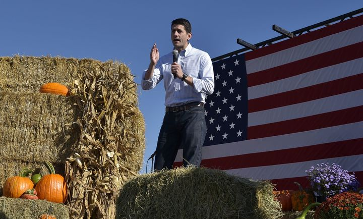 House Speaker Paul Ryan speaks during the 1st Congressional District Republican Party of Wisconsin Fall Fest on October 8, 2016.
