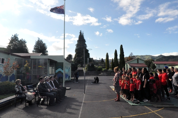 A powhiri, or welcome, was held for ministry officials.