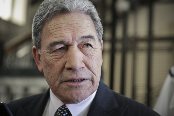 Winston Peters at the Bridge run.