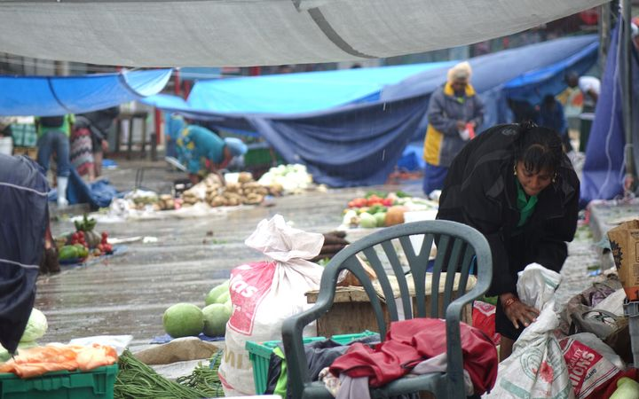 The heavy rain has played havoc at markets in the western Fiji town of Nadi.
