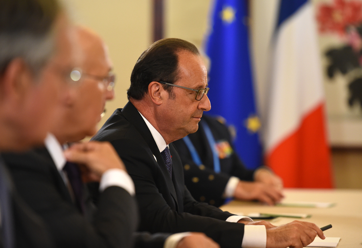 France's President Francois Hollande at the G20 Leaders Summit in China.