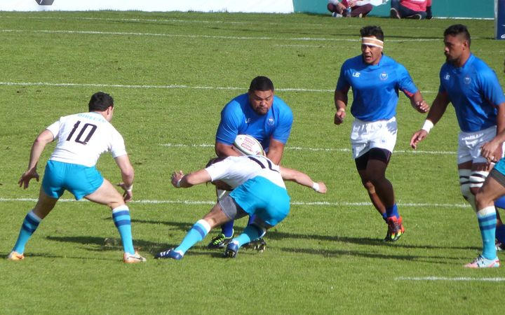 Samoa A edged hosts Uruguay A at the death.