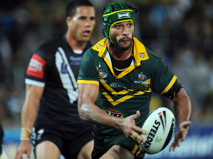 Johnathan Thurston in action for the Kangaroos