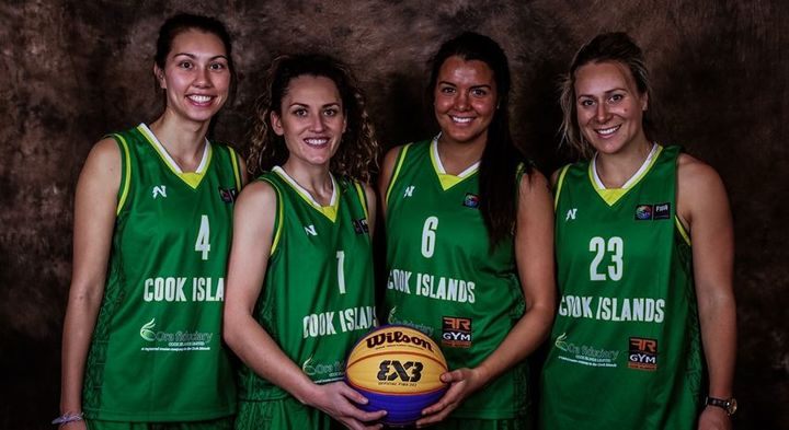 The Cook Islands women's 3x3 basketball team: Johaana Bates, Adoniah Lewis, Terai Sadler and Janet Main.