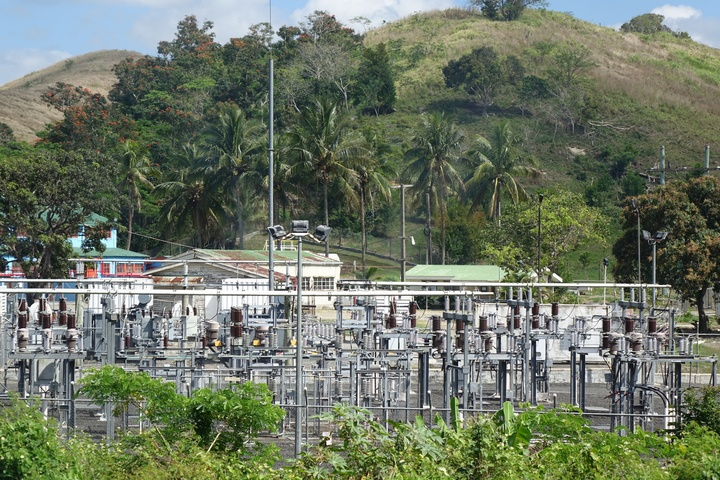 Fiji Electricity Authority power grid Sigatoka, Fiji.