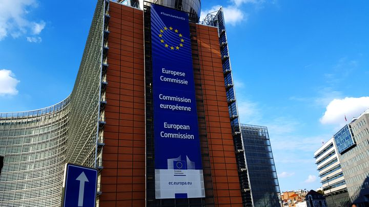 European Union Commission Building in Brussels