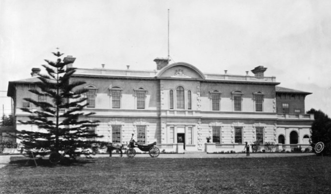 Auckland's Government House in the 1880s