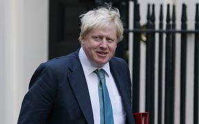 British Foreign Minister Boris Johnson arrives at 10 Downing Street in London for a cabinet meeting on October 11, 2016.