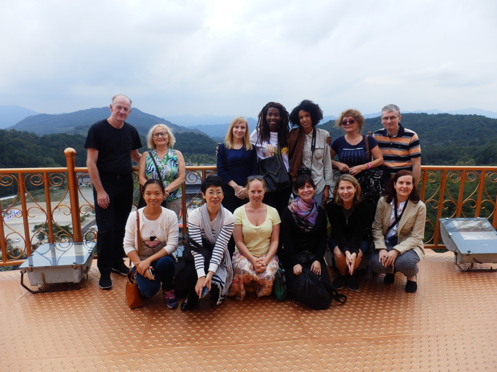 Heidi North-Bailey and the Shanghai International Writers Programme participants, Ningbo, China