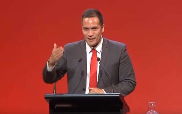 Tamati Coffey in his address to the New Zealand Labour Party Congress two years ago.
