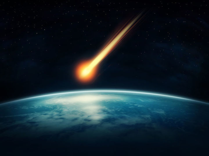 A meteor heading for earth.