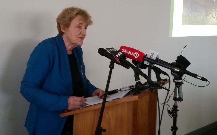 Parliamentary Commissioner for the Environment Dr Jan Wright at the release of her greenhouse gases report.