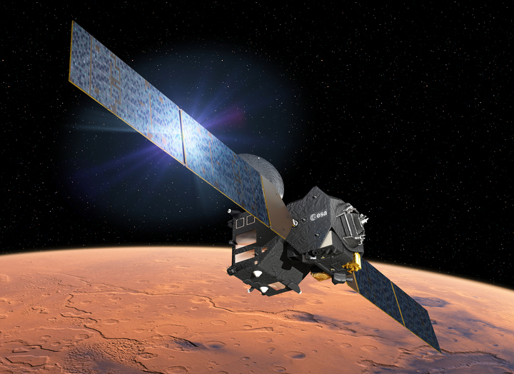 There has been contact with the Mars lander Schiaparelli since it behaved unexpectedly during its descent to the Red Planet.