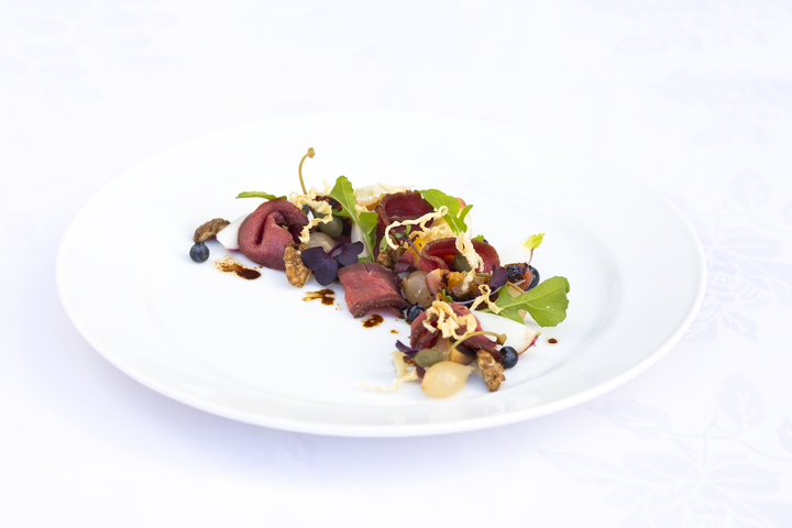 Tea Smoked Venison Salad, by Graham Brown