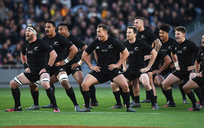 The All Blacks ahead of the final test for the Bledisloe Cup in Eden Park on 22 October 2016.