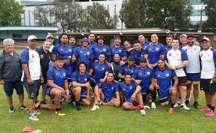 The Niue squad in training before leaving for South Africa.