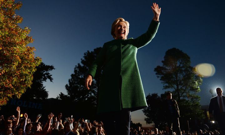 Democratic presidential nominee Hillary Clinton attends a rally at the University of North Carolina at Charlotte, October 23, 2016, in Charlotte, North Carolina.