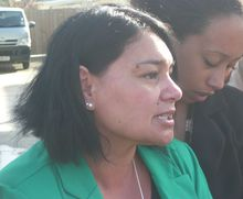 Gwendalyn Richmond, left, says she believes justice will be served.