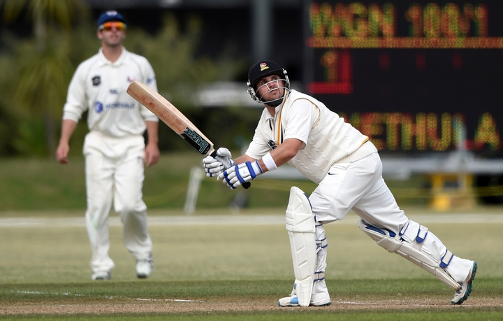 Wellington Firebirds captain, Michael Papps playing in the Plunket Shield