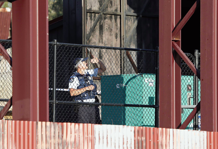 Police at the scene of the accident at Dreamworld on Australia's Gold Coast.