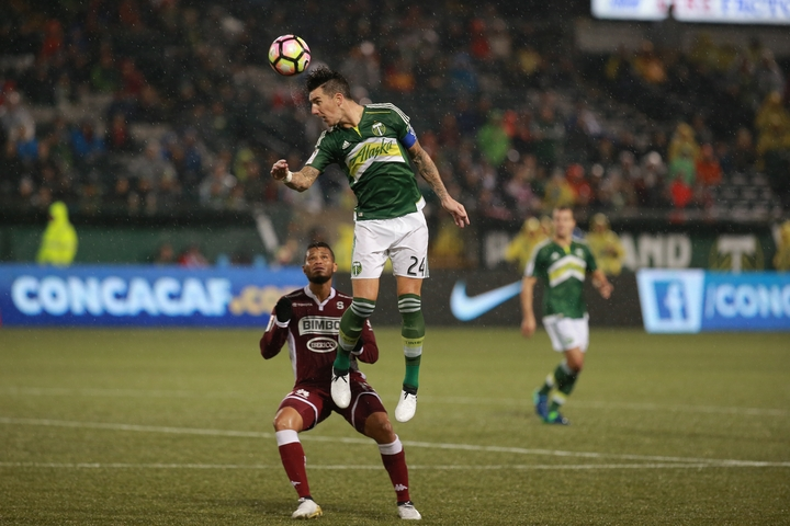 Portland Timbers captain Liam Ridgewell in action
