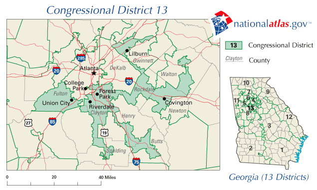 Georgia's 13th House district shows what highly gerrymandered districts look like.