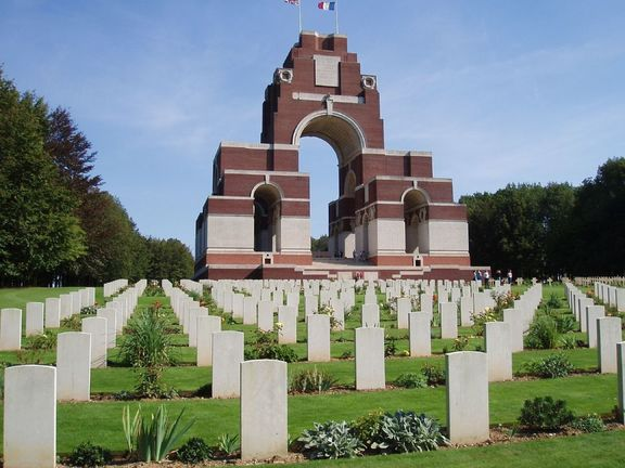 Thiepval Memorial to the 72,246 missing British Empire servicemen of the Somme