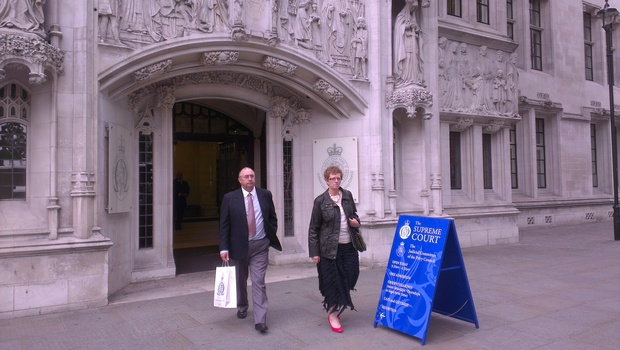 Mark Lundy's sister Caryl and brother-in-law Dave Jones attended the hearing in London.