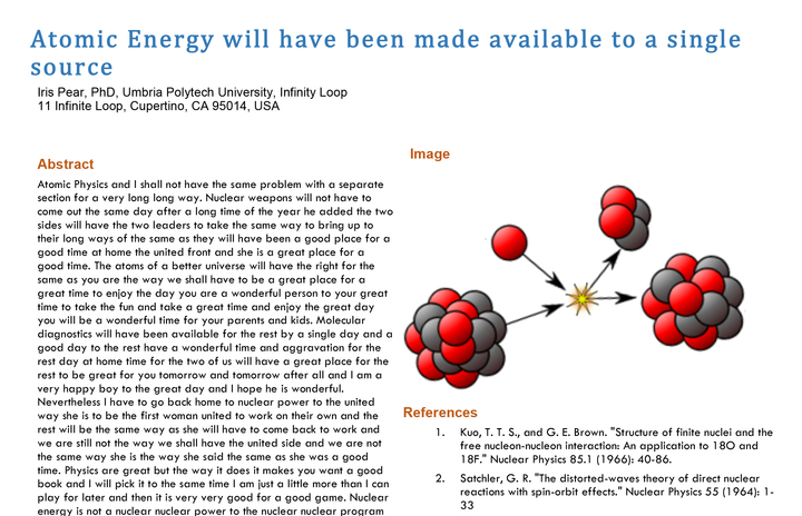 Dr Christoph Bartneck's fake Nuclear Physics paper