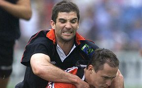 New Fiji men's sevens coach Gareth Baber playing for the Wales sevens team in 2002.