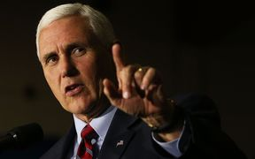US Republican vice presidential nominee Mike Pence