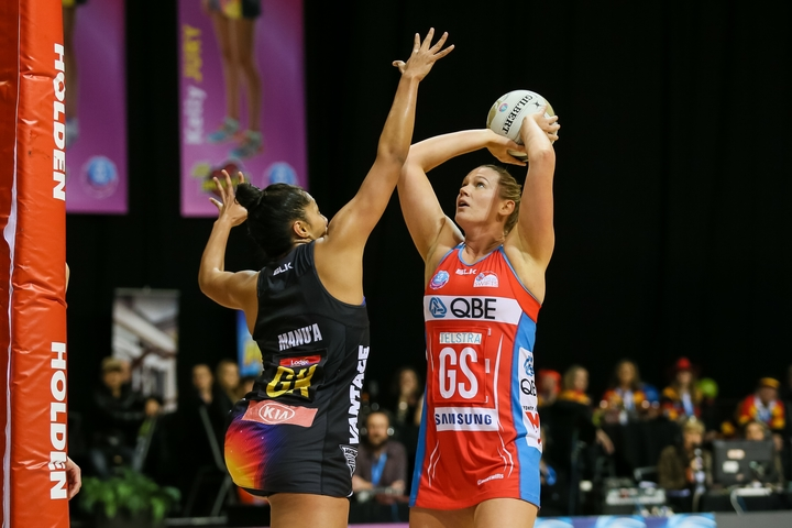 Australia's Susan Pettitt playing for the NSW Swifts.