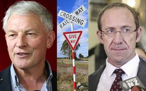 Phil Goff, Andrew Little, Rail Crossing