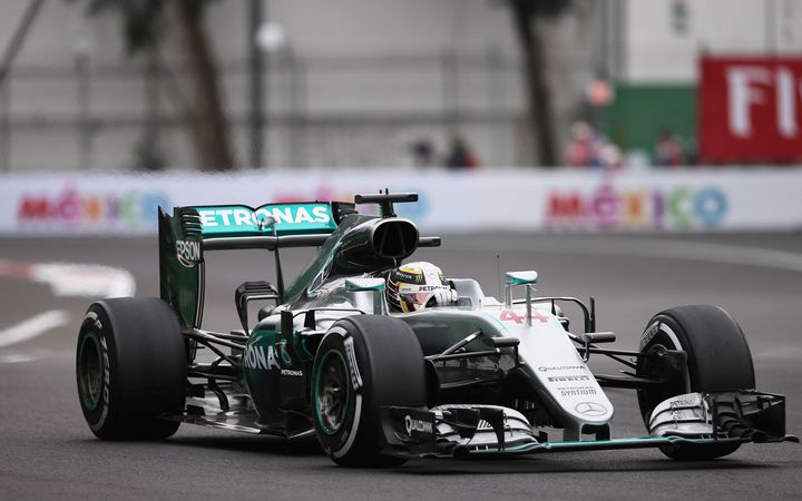Lewis Hamilton at the Mexico Grand Prix.