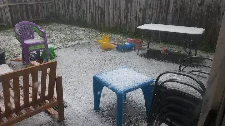 West Auckland residents said the hail fell for up to half an hour.