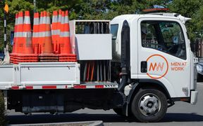 Christchurch's conemobile is set for a month-long collection of stray road cones.