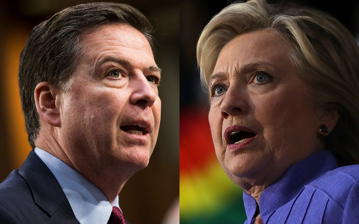 James Comey and Hillary Clinton.
